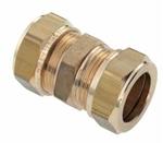 Afbeelding van Messing-knelkoppeling, recht 2-zijdig voor buis-Ø 8  - 42 mm