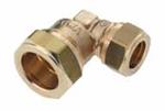 Afbeelding van Messing-knelkoppeling, knie / verloop voor buis-Ø 12 - 28 x 10 - 22 mm