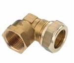 """Afbeelding van Messing-knelkoppeling, knie / IS voor buis-Ø 15 - 35 mm x 1/2 1 1/4"""""""