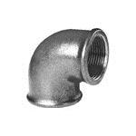 Afbeelding van Fitting van smeedbaar gietijzer knie 90 graden bi/bi