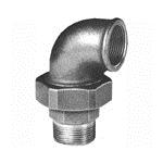 Afbeelding van Fitting van smeedbaar gietijzer knie schroefverbinding 90 graden bi/bu vlak afdichtend