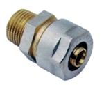 Afbeelding van Messing koppelingen met knelring voor PEX/PERT-buis recht/US