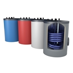 Afbeelding van Onderstel-drinkwaterboiler, 150 liter staand, met aansluitingen boven
