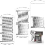 Afbeelding van Berekening boiler warmtewisselaar oppervlakte warmte afname