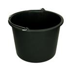 Afbeelding van Emmer 12 liter, zwart met metalen beugel