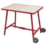 Afbeelding van Haromac Montagetafel met wielen 1000 x 700 x 850 mm, rood