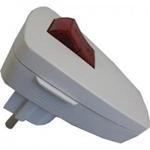 Afbeelding van Bachmann Veiligheidscontact haakse stekker met schakelaar, verlicht, wit