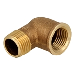 Afbeelding van Brons - schroeffitting - knie 90° IS/US