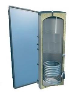 Picture of set: 'O4SP1-120S1' - 4plus 1 x vlakkeplaatcollector voor schuindak 120 liter solarboiler
