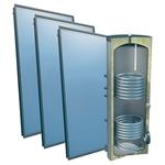 Afbeelding van set: 'O4PP3-400S2' - 4plus 3 x vlakkeplaatcollector voor schuindak 400 liter solarboiler