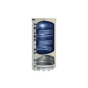 Picture of Warmtepomp-combinatieboiler 400 l met 2 buiswarmtewisselaars zilver