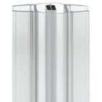 Afbeelding van Universele afdichting voor douchedeuren met magnetische sluitstrip 180°