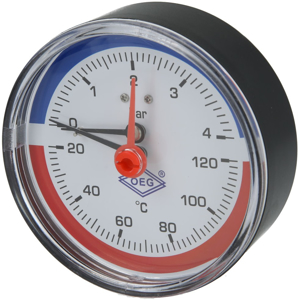 """Picture of Thermo-manometer axiaal 1/2"""" US"""